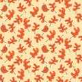 Autumn fall leaves. Floral seamless pattern background. Ornament Royalty Free Stock Photo