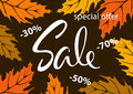 Autumn fall special offer discount sale banner