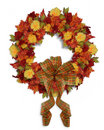 Autumn Fall Thanksgiving wreath Stock Images