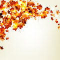Autumn falling leaves background eps and also includes Royalty Free Stock Photos