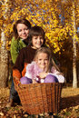 Autumn family portrait Fotografia Stock