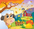 Autumn farm theme eps vector illustration Stock Image