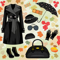 Autumn fashion set Stock Photo