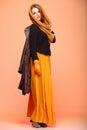 Autumn fashion woman fresh girl eye-lashes Royalty Free Stock Images