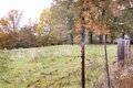 Autumn fence Royalty Free Stock Photo