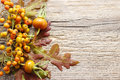Autumn Floral Decorations On W...