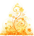 Autumn Floral element design Stock Photo