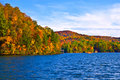Autumn Foliage and Lake Stock Image