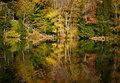 Autumn Foliage Lake Reflection, Vermont Stock Photography