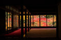 Autumn foliages view from Tenju-an, Kyoto Royalty Free Stock Photo