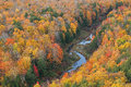 Autumn Forest and Stream Lake of the Clouds Royalty Free Stock Photo