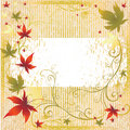 Autumn frame leafs thanksgiving vector 免版税库存照片