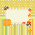Autumn frame with pumpkin Royalty Free Stock Photos