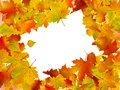 Autumn frame turned at an angle Royalty Free Stock Images