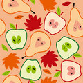 Autumn fruit seamless Royalty Free Stock Photos