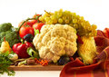 Autumn fruits and vegetables raw mix of Royalty Free Stock Photos