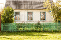 Autumn garden house on contryside of Russia Royalty Free Stock Photo