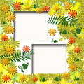Autumn garden scrapbook frame Stock Photo