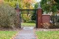 Autumn gates on lower campus, Oregon State University, Corvallis Royalty Free Stock Photo