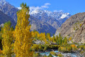 Autumn at Ghizer Valley. Northern Pakistan. Royalty Free Stock Photo