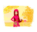 Autumn girl Royalty Free Stock Photos