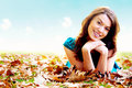 Autumn girl portrait outdoors Stock Photo