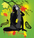 Autumn girl vector illustration Royalty Free Stock Photo