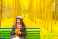 Ginkgo Trees And Girl