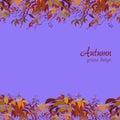 Autumn grape vine