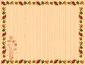 Autumn greeting card with leaves border Stock Photography
