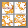 4 Autumn Greetings Card With H...