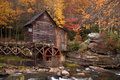 Autumn grist mill Royaltyfri Foto