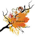 Autumn grunge background Stock Photos