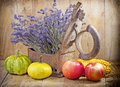 Autumn harvest on a table Stock Photo