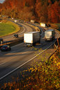 Autumn highway Stock Images