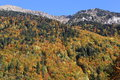 Autumn hillsides french alps in the mountains Royalty Free Stock Photography