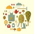 Autumn icon set Royalty Free Stock Photo