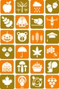 Autumn icons Stock Photography