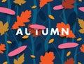 Autumn Illustration With Falli...