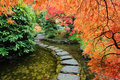 Autumn japanese garden Stock Photo