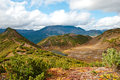 Autumn in kamchatka landscape with lake and hills Stock Photo