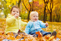 Autumn kids Stock Photo