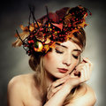 Autumn lady Royalty Free Stock Photo