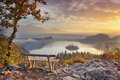 Autumn Lake Bled. Royalty Free Stock Photo