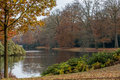 Autumn at the lake in the park apeldoorn holland Stock Photo