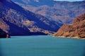 Autumn lake siriu from romanian carphatians Royalty Free Stock Photos