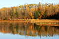 Autumn lake view in elk island Royalty Free Stock Photography