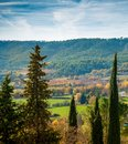 Autumn landscape beautiful view on sunny day Royalty Free Stock Photos