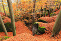 Autumn landscape in bohemian paradise czech republic colorful Royalty Free Stock Photography