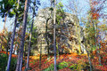 Autumn landscape in bohemian paradise czech republic colorful Stock Photos